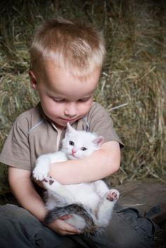 Hasil carian imej untuk kid and cat