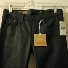 AG GOLDSCHMIED $205 Brand New!!! Tags attached. Style/Absolute Extreme Skinny made in the USA. New w/tags has slight stretch to them. Charcoal grey color, with a slightly wet look to them. AG Adriano Goldschmied Jeans Skinny