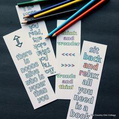 Printable Seuss Quote Bookmarks
