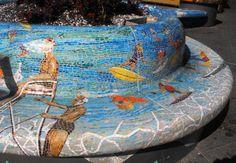 Mosaic benches at Bondi Beach, Australia
