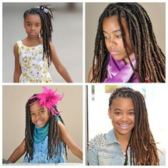 Cute loc styles for kids!!  I love to see #children with #locs #Dreads