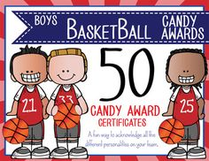 Need a fun way to acknowledge all the difference personalities on your basketball team?  This purchase includes 50 Candy Award Certificates (8 1/2 x 11). Instructions:- Use the Excel spreadsheet to assign awards to players- Click on the text box to enter players name.- If you would like to hand write players name, you can delete the text box.- Type or sign coachs name at the bottom.- If you would like to create your own candy award (maybe to reference a particular game, shot, etc.) you can…