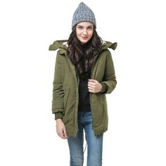 23.99$  Know more - http://aiazk.worlditems.win/all/product.php?id=G0081GR-XS - Winter Fashion Women's Fleece Parka Warm Coat Hoodie Overcoat Long Jacket