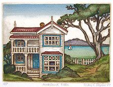 NZ fine art prints Mary Taylor- Wellington Villas