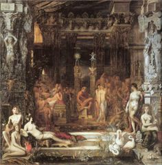 The Daughters of Thespius - Gustave Moreau