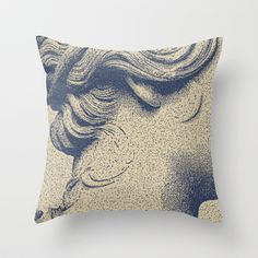 ink on paper Throw Pillow by ECSTATIC - $20.00