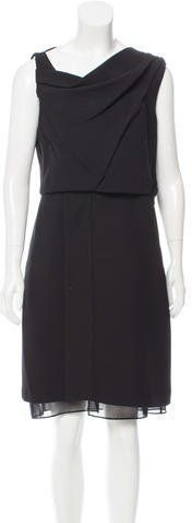 Black sleeveless Diane von Furstenberg Rendezvous sleeveless dress with cowl neck, dual slit pockets at hips and concealed zip closure at side. Cowl Neck, Diane Von Furstenberg, Black, Dresses, Fashion, Shirts, Vestidos, Moda, Black People