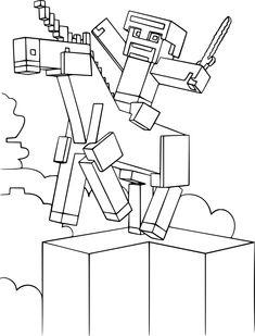 Motivy z TV   Minecraft   Omalovánka Minecraft (994) - 59x84cm   Omalovánky k vytištění - OmalovankyKVytisteni.cz - VOMALOVANKY.cz