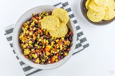 This homemade Black Bean Corn Salsa is sure to be a hit with any crowd! Kick up the flavor to your dinner recipes by serving it as a side dish or as topping to fish, chicken or your favorite Mexican dishes. It also makes for an easy appetizer when served with tortilla chips that everyone will love. Bean Recipes, Sauce Recipes, Yummy Recipes, Yummy Food, Healthy Recipes, Mexican Dishes, Mexican Food Recipes, Dog Food Recipes