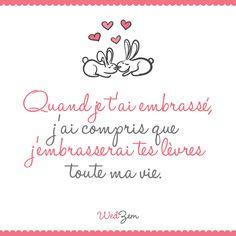 Petite citation d'amour du jour. #amour #citation Wedding Scrapbook, Cute Love, Sentences, Love Story, Affirmations, Mindfulness, Youri, Messages, Lettering