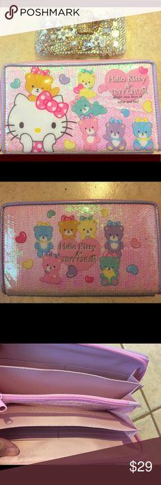 """9b3c6269b302 NWT JAPAN import HelloKitty Tiny Chum Large wallet NWT cute Hello Kitty x  Tiny Chum """""""