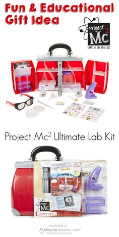 The Project Mc2 Ultimate Lab Kit is a smart gift for a girl's birthday party. This fun and educational gift shows girls that smart is the new cool! Great idea via @5 Minutes of Mom.