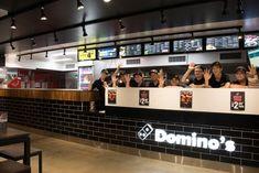 Domino's Franchise Australia - Store Gallery - Photos and informations about the Domino's franchise Pizzeria Design, Restaurant Design, Restaurant Bar, Pizza Project, Pizza Store, Franchise Store, Digital Asset Management, Store Design, Liquor Cabinet