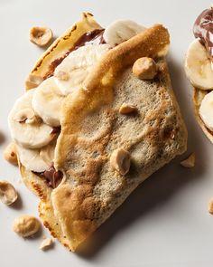 Chocolate-Hazelnut Crêpe with Banana Recipe - CHOW.com