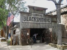 Knott's Berry Farm Blacksmith Shop – Buena Park, CA Play Houses, Bird Houses, Old Western Towns, Old West Town, Building Front, Buena Park, Blacksmith Shop, Old Country Stores, Old Buildings