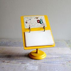vintage recipe holder. interesting. i would repurpose it as my recipes are never on index cards.