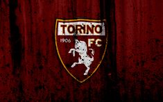 Download wallpapers FC Torino, 4k, logo, Serie A, stone texture, Torino, grunge, soccer, football club, Torino FC