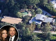 Brad Pitt and Angelina Jolie from Celebrity Mega Mansions  This 5,228 square-foot California compound isn't the couple's only home. In fact, they aren't even living there right now! Because we all keep a spare mega mansion on hand just in case we need an escape, right?!