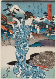 (Japan) by Keisai Eisen woodblock print. ukiyo-e. Japan Illustration, Japanese Drawings, Japanese Prints, Japan Painting, Chef D Oeuvre, Japan Art, Orient, Museum Of Fine Arts, Woodblock Print