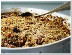 Apple Berry Crumble, Vegan & Low GI. Recipe at www.mioviva.com.au