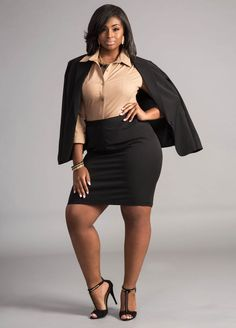 Plus Size Suiting and Wear to Work Options with Ashley Stewart: Dressed to Kill | The Curvy Fashionista