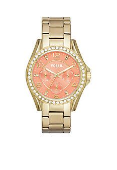 Fossil� Women's Riley Stainless Steel Multifunction Glitz Watch