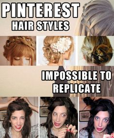 "Anyone who's attempted a ""three-step updo!"" knows this pain. 