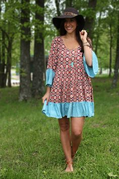 Bold In Boho Dress - Uptown Girl Boutique