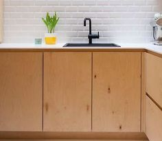 Baltic Birch Plywood Kitchen Doors standard and custom sizes handmade bespoke