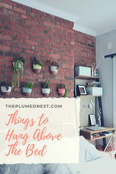 Above Bed Decor – Having a big empty wall above the bed can make the bedroom a little bit dull. Of course, the bedroom is a private area, and you don't need to make a lasting impression on your guests. Modern Bedroom Lighting, Modern Bedroom Decor, Mid Century Modern Bedroom, Modern Master Bedroom, Modern Country Bedrooms, Bedroom Ideas Pinterest, Above Bed Decor, Bedroom Colors, Nest