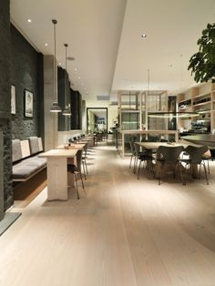 Poilane in London with Dinesen Douglas flooring and tables