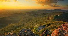 Hike the Appalachian Trail: This is a view of Skyline Drive in Shenandoah National Park.