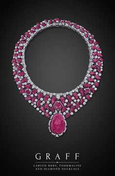 Graff Diamonds: Carved Ruby, Tourmaline and Diamond Necklace