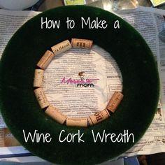 wine cork wreath tutorial