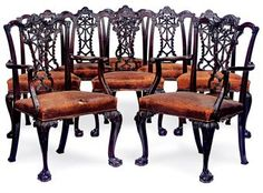 A SET OF LATE VICTORIAN MAHOGANY DINING CHAIRS