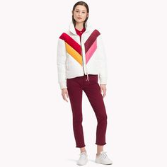 9ab79f80 Colour-Blocked Down Jacket | Tommy Hilfiger | Official Website Tommy  Hilfiger, Color Blocking
