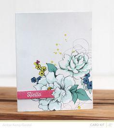 Floral card by AmberKG @Studio_Calico #SCdoublescoop