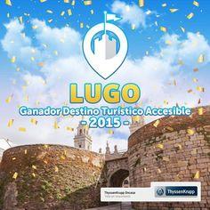 Lugo, ciudad premiada por los usuarios en redes sociales como el Destino Turístico Accesible 2015. Iniciativa de ThyssenKrupp Encasa.