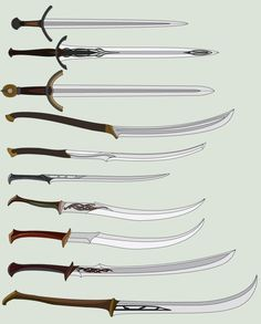 I took a short beak from drawing OCs and chose to draw swords from the Lord of the Rings/The Hobbit Sword Drawings Fantasy Sword, Fantasy Rpg, Medieval Fantasy, Swords And Daggers, Knives And Swords, Tolkien, Armas Ninja, Types Of Swords, Martial Arts Weapons