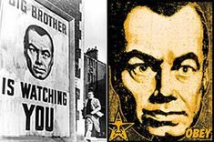 Article on Obey Plagiarist Shepard Fairey  A critique by artist Mark Vallen // Poster from the 1956 film, 1984, and Fairey's rip-off version