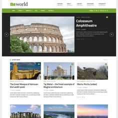 TheWorld WordPress Theme to Create Stylish Clean Magazine Website