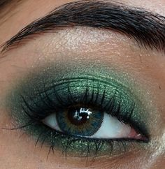 Try this look with these colors!: http://etniqminerals.com/featured/go-green-for-st-pattys-day/    Smokey green eye makeup
