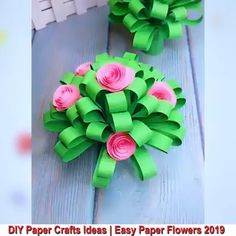 Mothers Day Crafts For Kids Discover Beautiful Paper Crafts Creative ideas about paper crafts. Paper Flowers Craft, Paper Crafts Origami, Easy Paper Crafts, Diy Crafts For Gifts, Paper Roses, Diy Arts And Crafts, Flower Crafts, Diy Flowers, Handmade Flowers