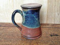 Mug with Lid hebal tea steeping mug by AndreaHillPottery on Etsy