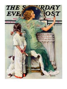 """Going Out"""" Saturday Evening Post Cover, October 21,1933"""