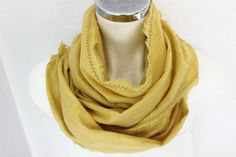 Yellow linen scarves Men's scarves yellow Corn by Nazcolleccolors