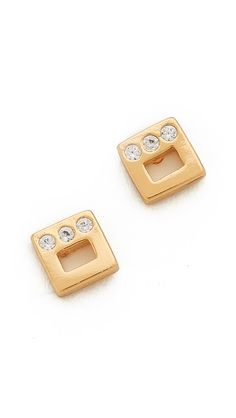 Gorjana Ryder Shimmer Stud Earrings