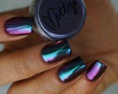 Rose Chrome Powder For Mirror Nails | Etsy Chrome Nail Powder, Chrome Nail Art, Gold Chrome, Polish Words, Best Powder, Mirror Nails, Glitter Mirror, Beautiful Nail Designs, Fun Nails