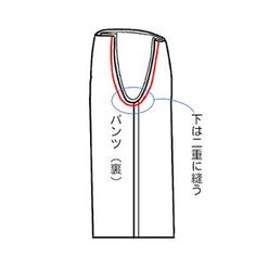 【型紙・作り方】簡単スカンツ(ガウチョパンツ)
