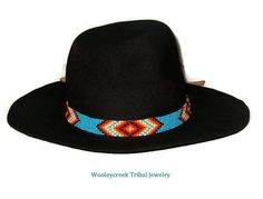 This is a pattern for a Oklahoma Creek hat band designed by Wooleycreek . This band is woven using a loom or it could also be done using a square stitch. The finished size for this band is 22 inches Beaded Hat Bands, Craft Tutorials, Go Shopping, Beading Patterns, Oklahoma, Loom, Cowboy Hats, Trending Outfits, Unique Jewelry